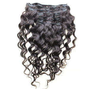 Loose Wave Clip In Human Hair Extensions 7Pcs/120G Full Head Brazilian Hair Clip Natural Hair Prosa Remy Hair Products