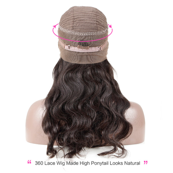 Luvin 250 Density Lace Front Human Hair Wigs For Women 360 lace frontal wig pre plucked with baby hair Brazilian Remy Body Wave