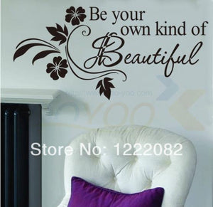 Be Your Own Kind Of Beautiful Marilyn Monroe Quotes Wall Decals 8028 Vinyl Wall Stickers for Home Bedroom Decor