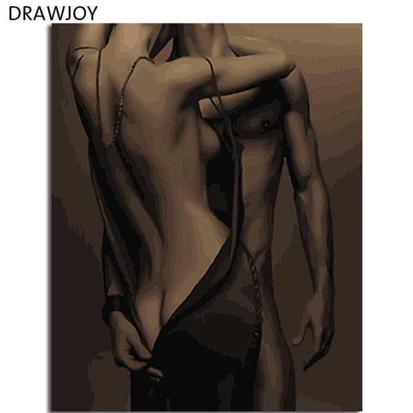 DRAWJOY Framed Oil Paint DIY Painting By Numbers Figure Painting Coloring By Numbers Home Decoration For Living Room Wall Art