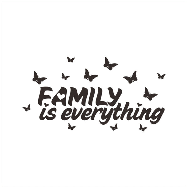 Family Is Everything Butterfly Arounding creative quote wall decals DIY Wall Stickers Sofa Parlor Bedroom Decoration