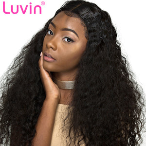 Luvin 360 Lace Frontal Wigs For Black Women Pre Plucked With Baby Hair Malaysian Curly Full Human Hair Lace Front Wig Deep Wave