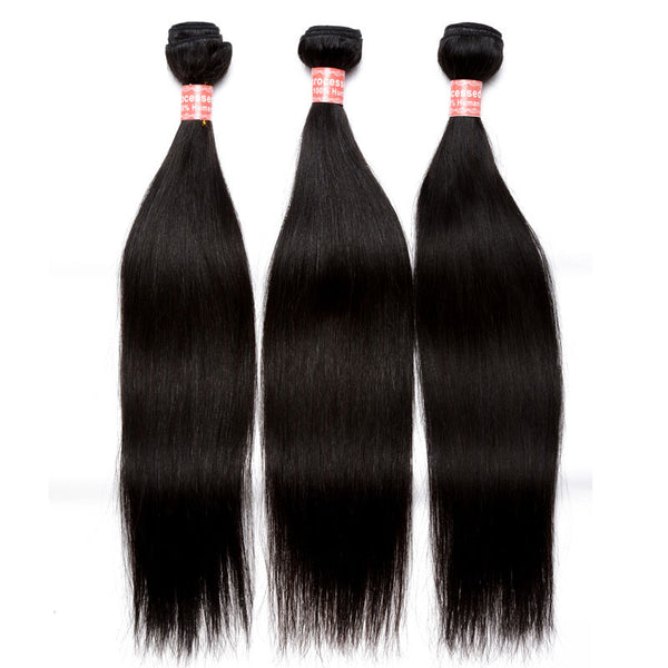 Brazilian Virgin Hair Extension 3Pcs Straight Wave Human Hair Weave Bundles Natural Color Hair Products Prosa