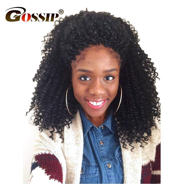 Gossip Hair Afro Kinky Curly Hair Brazilian Hair Weave Bundles Weave Brazilian Kinky Curly Bundles Deal 100% Human Hair Bundles