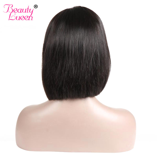 Glueless Brazilian Lace Front Human Hair Wigs For Black Women Remy Malaysian Straight Short Bob Wigs Pre Plucked With Baby Hair
