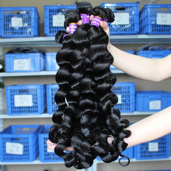 Loose Wave Bundles Brazilian Hair Weave Bundles Deal One Piece Human Hair Extension Remy Hair Weaving Prosa Hair Products