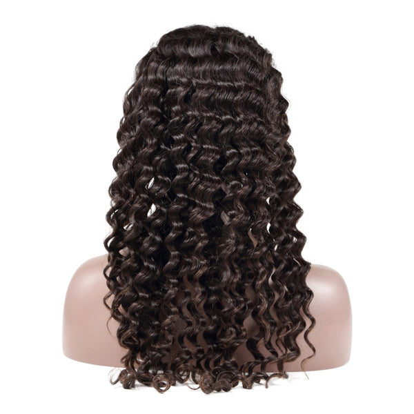 Luvin Curly Lace Front Human Hair Wigs Deep Wave Brazilian Remy Hair Short Bob Wigs For Black Women Water Wave Long Lace Wig