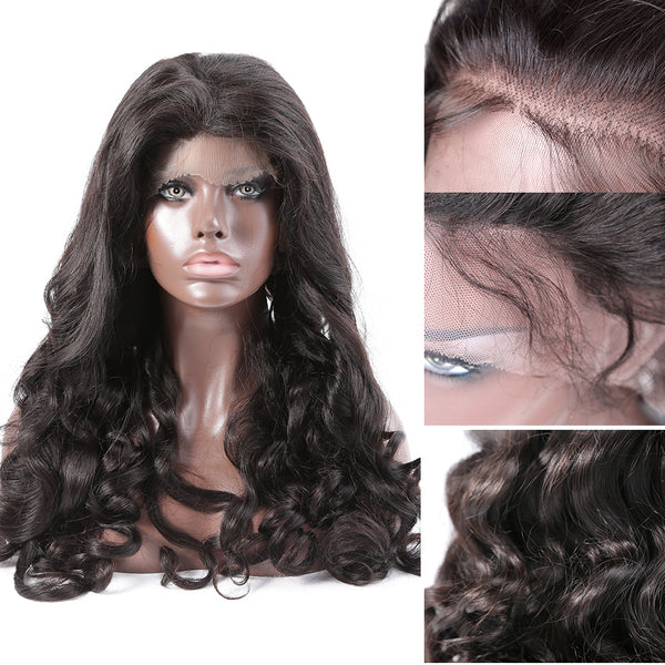 Luvin 250 Density Lace Front Human Hair Wigs For Black Women Brazilian Curly 360 Lace Frontal Wigs Pre Plucked With Baby Hair