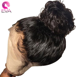Glueless Curly Lace Front Human Hair Wigs Pre Plucked For Women Natural Black Brazilian Remy Lace Front Wigs With Baby Hair Eva