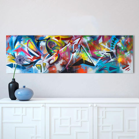 HDARTISAN Colorful Graffiti Oil Abstract Painting Canvas Prints for Wall Art Picture for Living room Home Decor