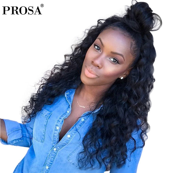 3 Human Hair Bundles With Closure Lace Frontal Closure Brazilian Hair Weave Loose Wave Bundles With Closure Prosa Remy