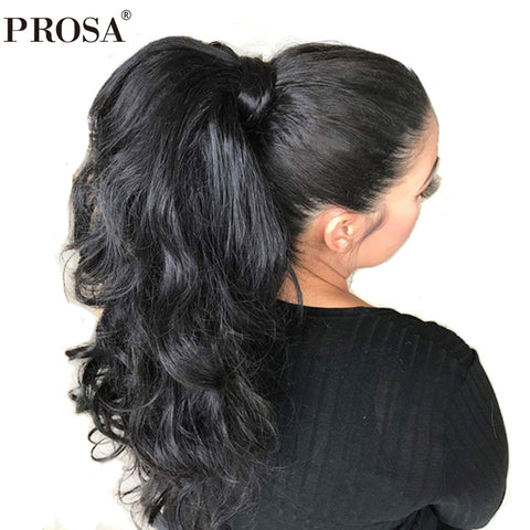 360 Lace Frontal Wig Pre Plucked With Baby Hair 150% Density Brazilian Lace Front Human Hair Wigs Body Wave Prosa Remy