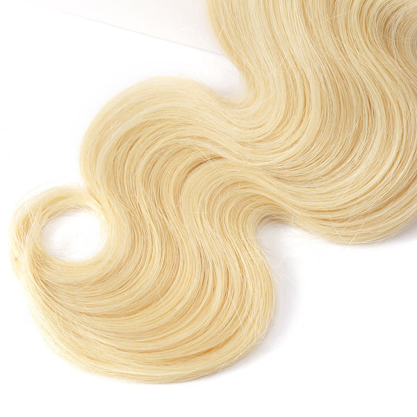 Luvin Brazilian Virgin Hair Body Wave 1PC 613 Blonde Hair Bundles 100% Human Hair Weave Bundles Hair Extension