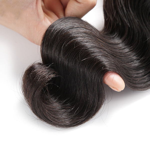 Luvin Body Wave Brazilian Virgin Hair 3 Pcs/Lots 100% Unprocessed Human Hair Bundles Weaves