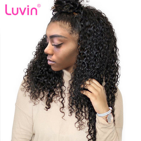 Luvin Peruvian Deep Wave Virgin Hair Extension 100% Human Hair Weave 30 inch Bundles Unprocessed Hair Weft 1 3 Bundles Curly