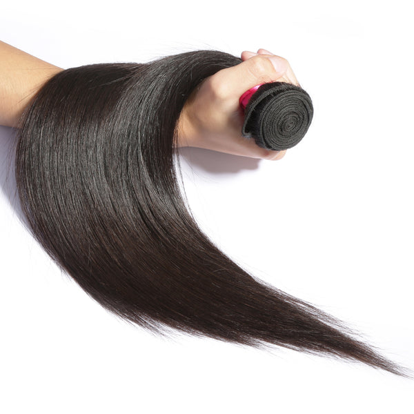 Luvin Peruvian Virgin Hair Straight Weaving 4 Pcs/Lots 100% Natural Color Human Hair Bundles Weaves Soft Hair No Shedding