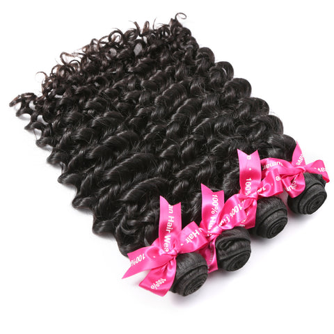 Luvin Malaysian Virgin Hair Deep Wave 4 Pcs/Lots 100% Human Hair Weave Bundles No Shedding No Tangle Soft Hair