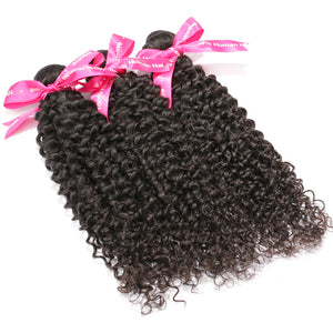Luvin Brazilian Kinky Curly Virgin Hair 3 Pcs/Lot 100% Unprocessed Human Hair Weave Bundles Shipping Free