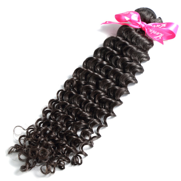 Brazilian Virgin Hair Deep Wave 100% Human Hair Weaves Bundle Unprocessed Hair Weft 1 3 Piece Natural Color Shipping Free