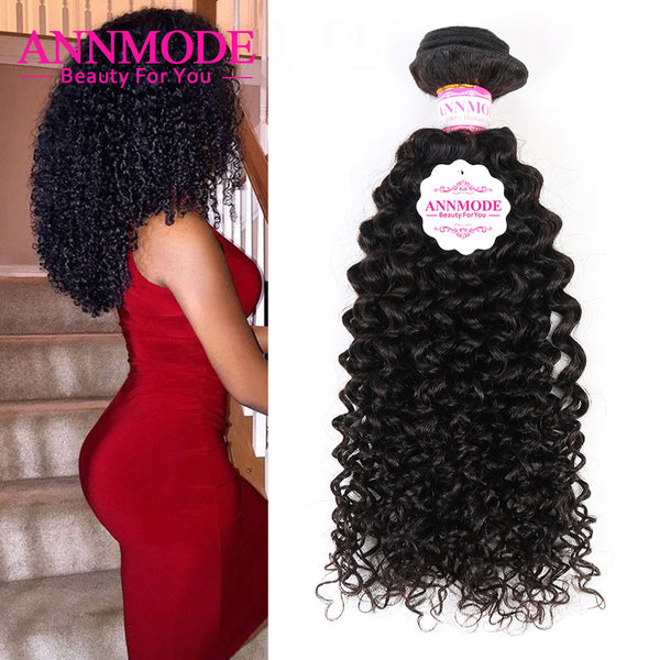 Malaysian Afro Kinky Curly Hair Bundles 1/3/4 Piece Free Shipping Natural Color 100% Human Hair Non Remy Hair Extensions Annmode