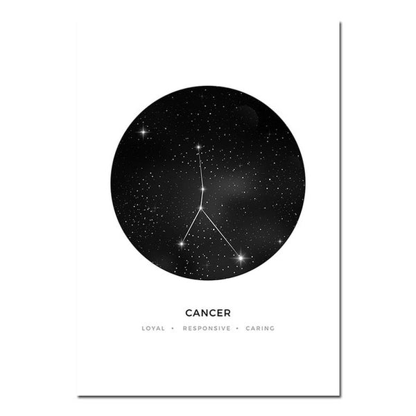 Nursery Wall Art Canvas Poster Prints Astrology Sign Minimalist Geometric Painting Nordic