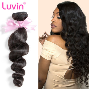 Luvin Brazilian Hair Loose Wave Remy Hair Weft 100% Human Hair Weave Bundles Natural Color 30 inch Bundles Free Shipping