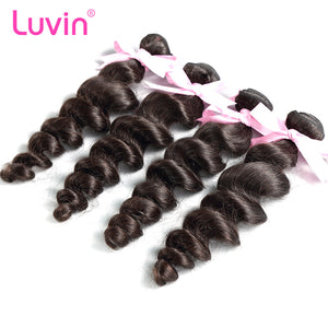 Luvin Brazilian Remy Hair Loose Wave 4PCS/Lot 100% Human Hair Weave Bundles Unprocessed Hair Extensions Free Shipping