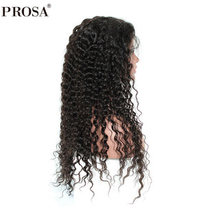 360 Lace Frontal Wig Brazilian Curly 150% Density Lace Front Human Hair Wigs Pre Plucked With Baby Hair Remy Hair Prosa