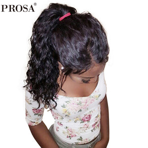 Loose Wave 360 Lace Frontal Wig Pre Plucked With Baby Hair 180% Density Brazilian Lace Front Human Hair Wigs Prosa Remy
