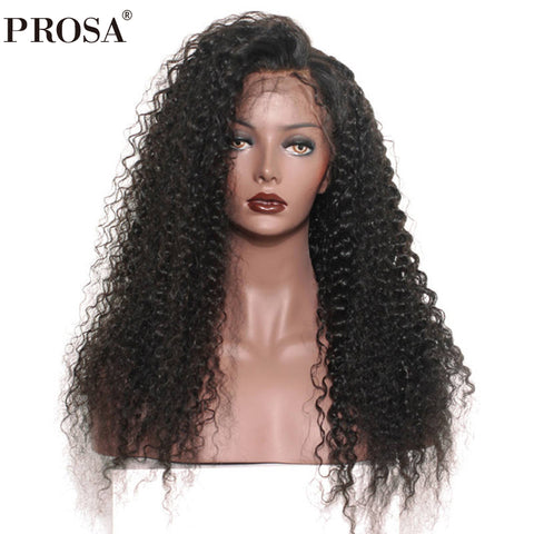 360 Lace Frontal Wig Pre Plucked With Baby Hair 180% Density Brazilian Lace Front Human Hair Wigs For Women Prosa Remy