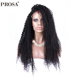 Kinky Curly 360 Lace Frontal Wig Pre Plucked With Baby Hair 180% Density Brazilian Lace Front Human Hair Wigs Prosa Remy