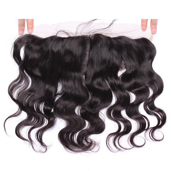 13x4 Lace Frontal Closure with bundles Body Wave Brazilian Human Hair Weave Bundles 4 Pieces Natural Color Remy Hair Prosa