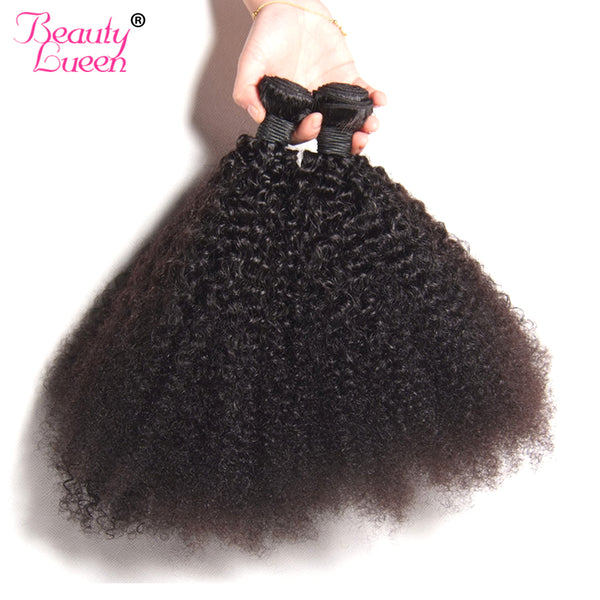4B 4C Afro Kinky Curly Hair Brazilian Human Hair Weave Bundles Natural Color Non Remy Hair Extension Free Shipping Beauty Lueen