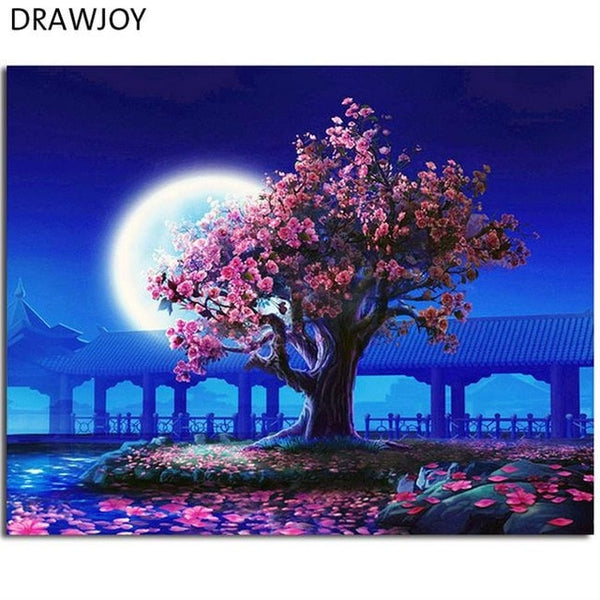 DRAWJOY Framed Pictures DIY Painting By Numbers Home Decor Oil Painting On Canvas  Wall Art For Living Room 40*50cm