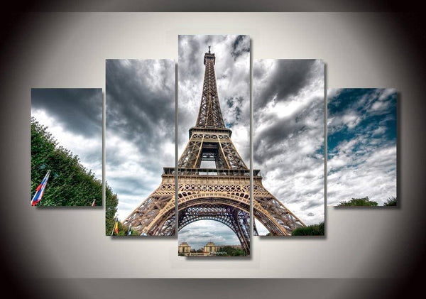 HD Printed Eiffel Tower Landscape Group Painting Canvas Print room decor print poster picture canvas Free shipping/H058
