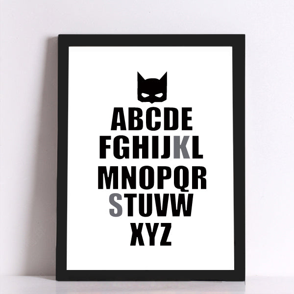 Batman alphabet Canvas Art Print Poster, Wall Pictures for Home Decoration, Wall Decor FA246-3