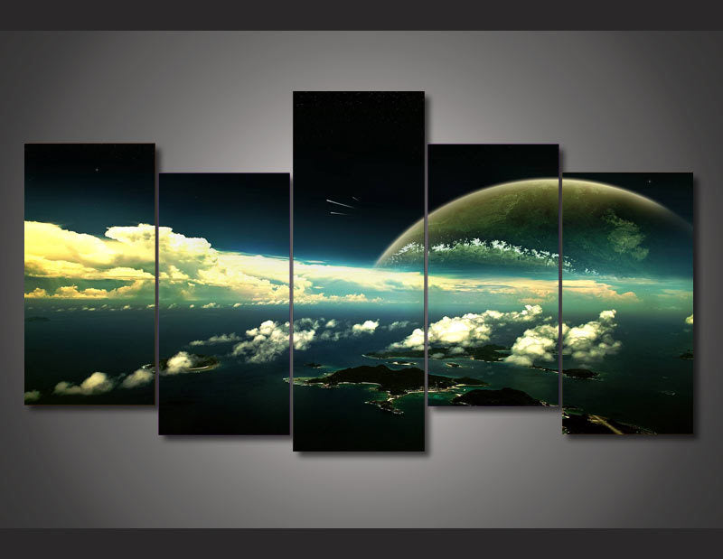 HD Printed Universe scenery picture Painting wall art room decor print poster picture canvas Free shipping/ny-1271