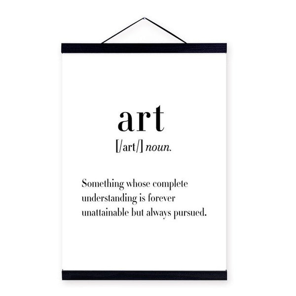 Black White Typography Art Life Quotes A4 Wooden Framed Poster Nordic Home Decor Wall Art Prints Pictures Canvas Painting Scroll