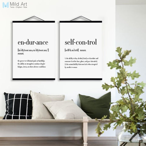 Modern Typography Life Quotes Wooden Framed Poster Nordic Living Room Wall Art Print Picture Home Decor Canvas Painting No Frame