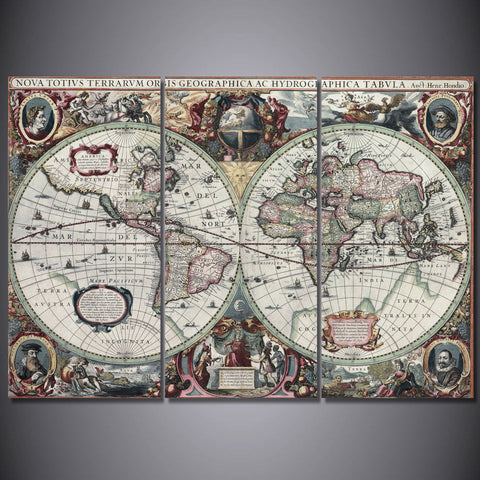Printed Ancient map Painting Canvas Print room decor print poster picture canvas Free shipping/ny-5714
