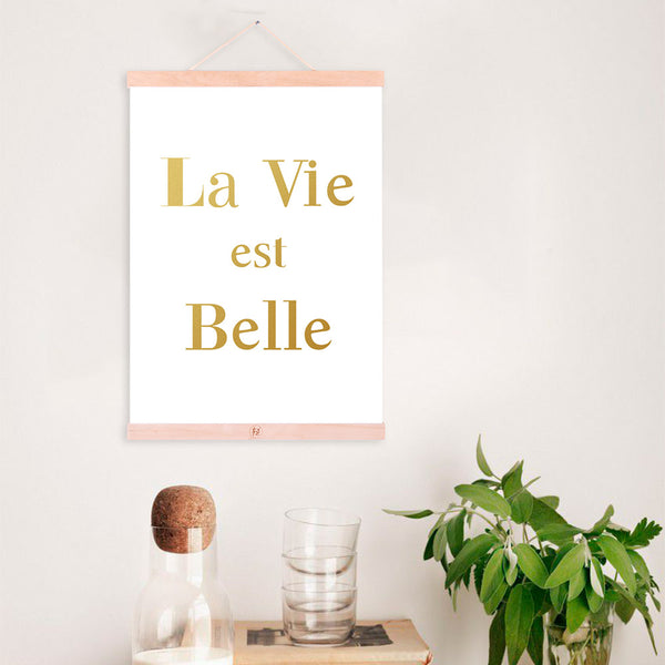 Motivational Quotes Life Posters Print Nordic Style Home Decor Gold Letter Scroll Wall Art Picture Wooden Framed Canvas Painting