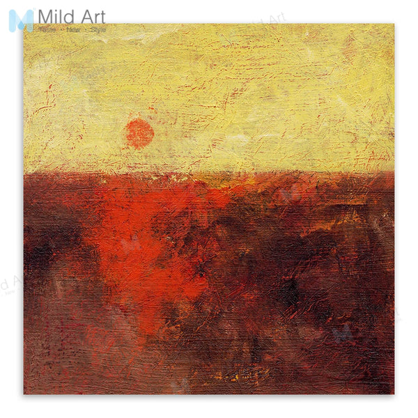 Vingtage Retro Abstract Sea Sunset Wooden Framed Hanger Posters Living Room Wall Art Pictures Home Decor Canvas Paintings Scroll