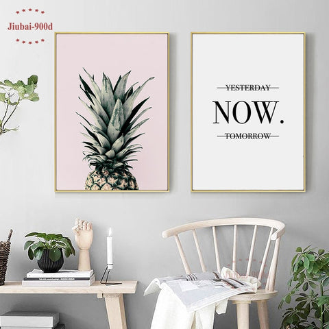 Canvas Painting Pineapple Wall Pictures For Living Room Nordic Poster