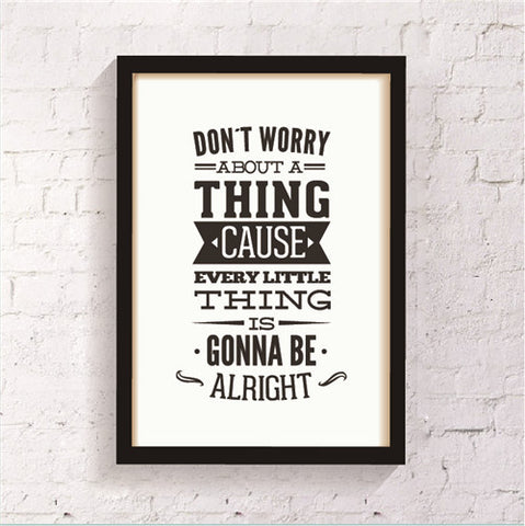 INspiration Quote Canvas Painting Poster, Wall Pictures For Living Room Home Decoration Art Print On Canvas,  set of 1