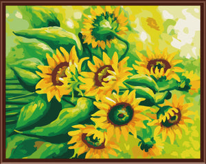 DRAWJOY Wall Pictures DIY Painting By Numbers Hand Painted Oil On Canvas Home Decor Sunflower Wall Sticker 40*50cm G215
