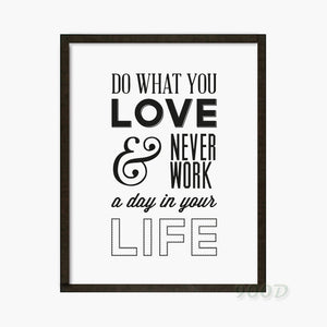 Do What You Love Quote Art Print Art Print painting Poster, Wall Pictures for Home Decoration Wall Decor,  PF037