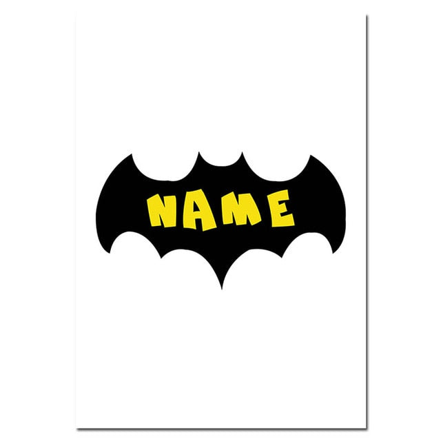 Batman Mask Nursery Quotes Wall Art Canvas Posters and Prints Cartoon Painting