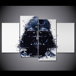 HD Printed 4pcs Star Wars Group Painting on canvas room decoration print poster picture canvas framed Free shipping/NY-1279