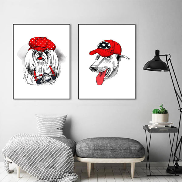 Dog Posters and Prints Print on Canvas Wall Art Animal Picture