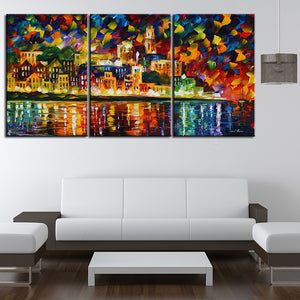 Knife painting 3Panels canvas painting home decor best background decorative wall painting NO FRAME wall poster picture